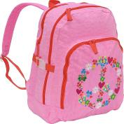 Agatha Ruiz de la Prada Peace & Love Large Pink Backpack