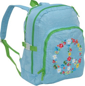 Agatha Ruiz de la Prada Peace & Love Large Blue Backpack