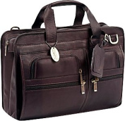 Claire Chase 149E-cafe Slimline Executive Briefcase - Cafe