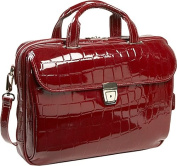 Siamod 35526 Settembre Red Leather Medium Ladies Laptop Brief