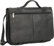 David King & Co 114B Expandable Briefcase- Black