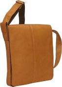 David King & Co 145T Small Vertical Messenger Bag- Tan