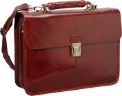 Luxurious Italian Leather Classic Briefcase