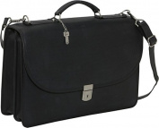 Platinum Collection Flapover Leather Laptop Briefcase