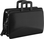 Elements Collection Double Gusset Top Zip Laptop Leather Briefcase