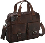 Spikes & Sparrow Collection Single Gusset Top Zip Briefcase
