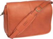 Claire Chase 167E-saddle Luxury Messenger Briefcase - Saddle