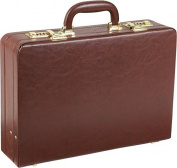 Expandable Executive Faux Leather Attache Case