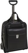 Siamod 45315 Pastenello Black Leather Vertical Detachable Wheeled Laptop Case