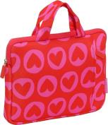 """Agatha Laptop Case w/handles 10"""" Heart Pins"""