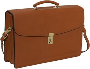 Belting Collection Double Gusset Flapover Briefcase w/Combination Lock