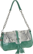 Buxton FDL11022.GR.BX Jasmine Collection Leather Shoulder Bag - Green