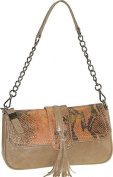 Buxton FDL11022.TN.BX Jasmine Collection Leather Shoulder Bag - Tan