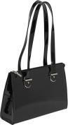 Patent Collection Top Zip Shoulder Handbag