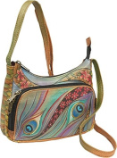 Compact Crossbody Travel Organizer - Dancing Peacock