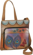 ANNA by Anuschka Slim Shoulder Organizer - Peacock Butterfly