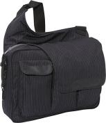Black Pinstripe Messenger II bag
