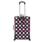 Rockland Fusion 3-pc. Expandable Spinner Luggage Set - Multi Pink Dot