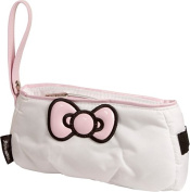 Williams Sports Holdings BP-HKC.WHITE Hello Kitty Diva Bow Pouch - White- Pink
