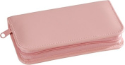 Royce Leather 551-CP-6 Travel & Grooming Kit - Carnation Pink