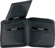 Men?s Zippered Wallet with Removable Passcase
