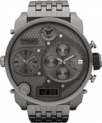Diesel Men's DZ7247 'Mr Daddy' Grey Oversized Chronograph Stainless Steel Watch
