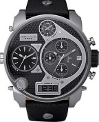 Men's Black SBA Oversized Ana-Digi Black and Silver Dial Watch
