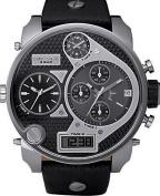 Men's Black SBA Oversized Ana-Digi Black and Silver Dial Watch