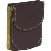 Bifold Multi Color Wallet in Black Rainbow Combination