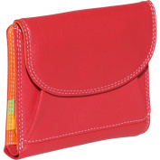 Large French Multi Color Wallet in Black Rainbow Combination