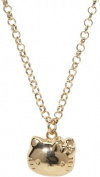 Hello Kitty Head Necklace-Gold
