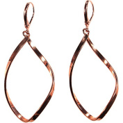 Smooth Twisted Copper Earrings