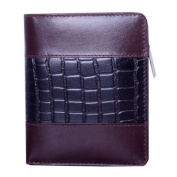 Leather Wallet w/Croc Accents