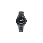 Fossil Men's Stainless Steel Chronograph Black Dial Watch with Black Dial Plating