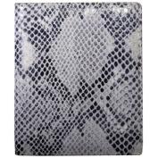 Italian Leather Snake Print Large Bi-Fold