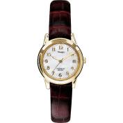 Timex Women's Dress Watch, Burgundy Leather Strap