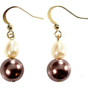 Natural Colored Baroque Pearl Double Drop Earrings