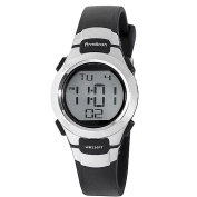 Armitron Ladies Digital Watch, Black Resin Strap