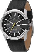 Men's Black Not-So-Basic Basic Analog Black Dial Watch