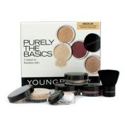 Purely The Basics Kit - #Medium (2xFoundation, 1xMineral Blush, 1xSetting Powder, 1xBrush, 1xMineral Powder), 6pcs