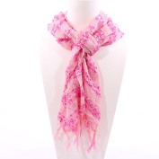 Double Threads Scarf Pink