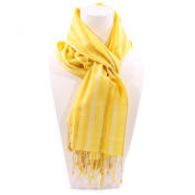 Vertical Striped Scarf Shades of Yellow