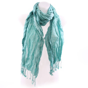 Triple Stripe Scarf - Aqua
