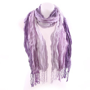 Triple Stripe Scarf - Purple