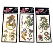 Body Art Dragon Tattoo Transfers
