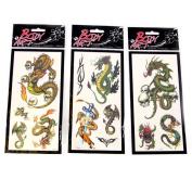 Body Art Dragon Tattoo Transfers
