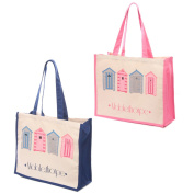 Mablethorpe Beach Hut Cotton Bag