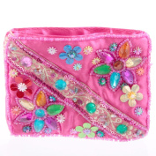 Embroidered Shimmering Sequin Purse - Pink