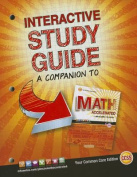 Glencoe Math Accelerated, Interactive Study Guide, Se