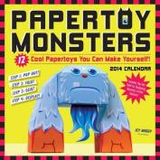 Papertoy Monsters 2014 Wall Calendar
